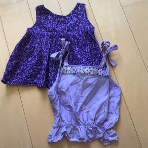 Two purple tops for 2T girls